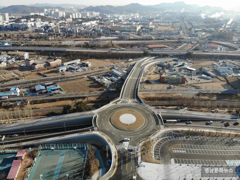 수출탑 ~ 시민운동장간 도로개설 1월 9일 개통