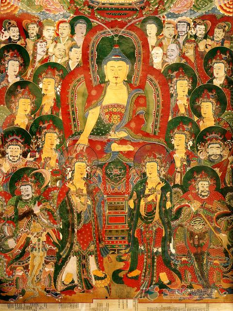 구미시  수다사에 있는. 영산회상도  보물  제1638호