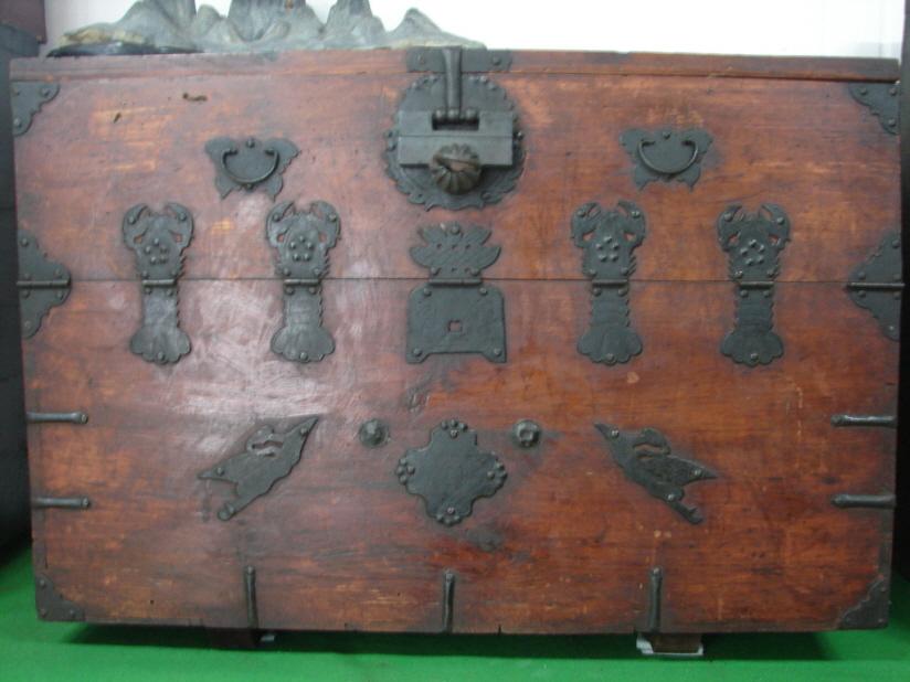 옛 장석문양  가재