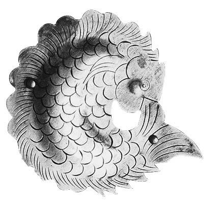 옛 장석문양 물고기