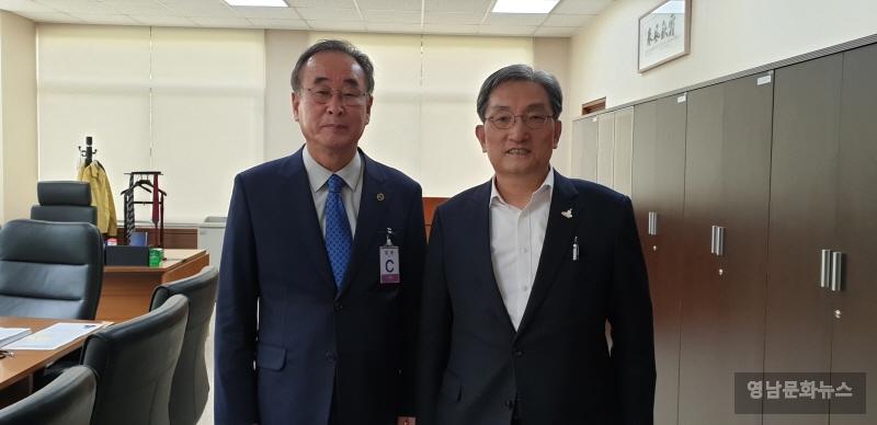 구미시, 현안사업 논의를 위한 청와대 방문